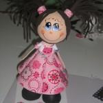 Fofucha Niña con vestido de tela