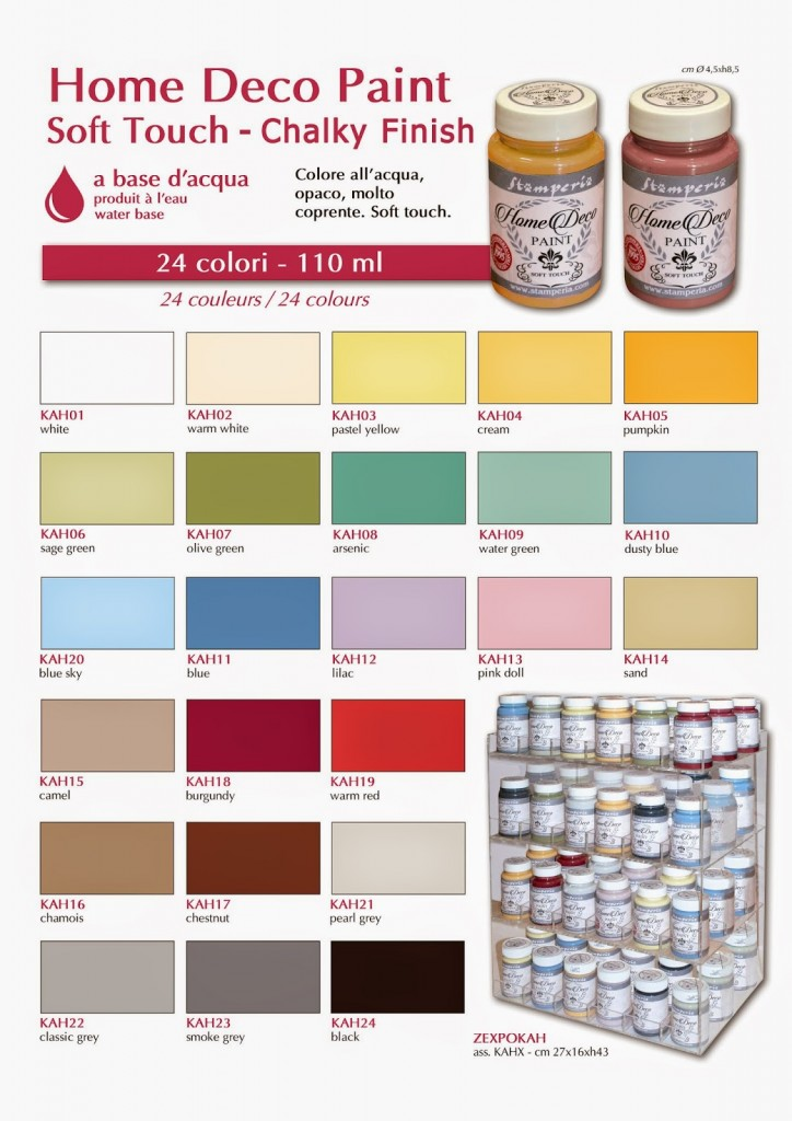 1 PINTURA CHALKY Home Deco Paint 110 ml
